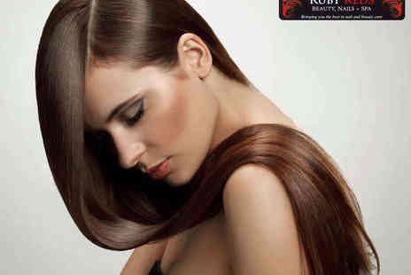 Ruby Reds - Haircut and Blow Dry with Half Head Highlights or Full Head Tin - Save 52%
