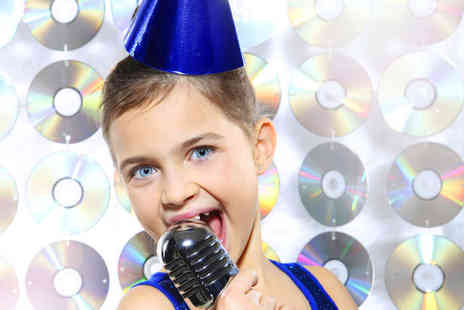 Pop Music Experience - Hour Long Childrens Recording Studio Party for up to 20 People with a Host, Fancy Dress, and CD of Recorded Track - Save 90%