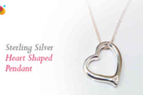 UK Game Gear - Sterling Silver Heart Pendant and Chain - Save 77%