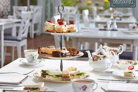 Broadoaks Country House - Afternoon Tea for Two  with Glass of Prosecco Each - Save 44%