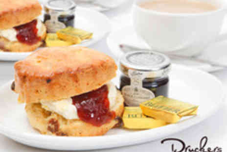 Druckers Vienna Patisserie -  Scones and Tea or Coffee for Two - Save 52%