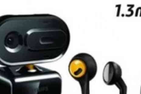 Philips - Philips Webcam and Headphone Combo For Comfortable Chatting - Save 50%