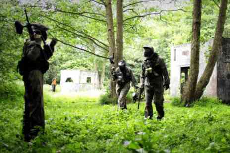 BlindFire Paintball - Full day paintballing for five  with 100 balls and lunch each - Save 0%