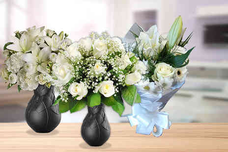 Posy Bouquets - Choice of 3 white bouquets  - Save 60%