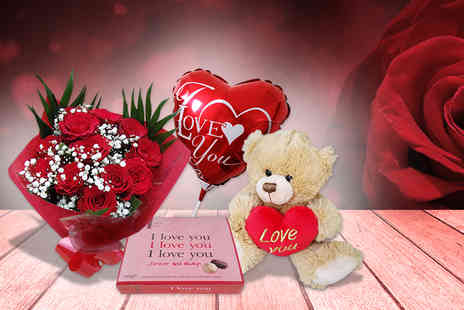 Posy Bouquets - Romantic Valentines Day hamper - Save 63%