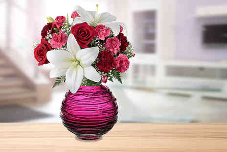 Posy Bouquets - Rose and lily bouquet - Save 50%