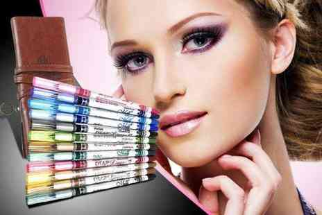 Quick Style - 12 glitter eye pencils - Save 88%