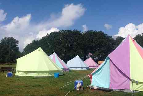 Botany Camping - Two nights in bell tent  including BBQ kits and a bouquet - Save 39%