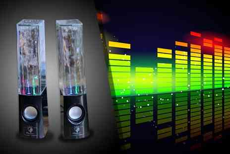 Excess Retail - Pair of Lileng 301 LED dancing water speakers - Save 60%