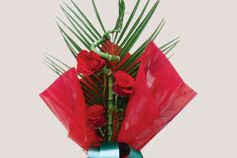 Posy Bouquets - Desire of Love Red Rose Bamboo - Save 34%