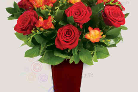 Posy Bouquets - Flame Dancers Valentines Bouquet - Save 53%
