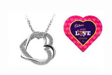Finishing Touch - Duo Heart Necklace & Heart Chocolates - Save 0%