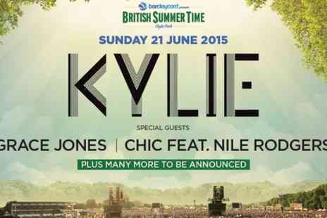 AEG Live - Ticket to Kylie Minogue at Barclaycard Presents British Summer Time Hyde Park General Admission  - Save 0%