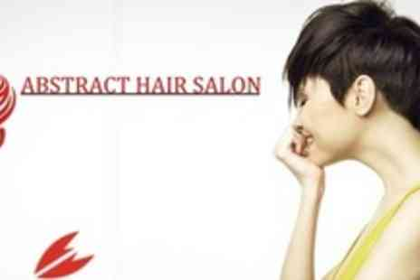Abstract Hair - Cut or Restyle With Back Bar Conditioning Mask Plus Biolage Cera Repair and Massage - Save 61%