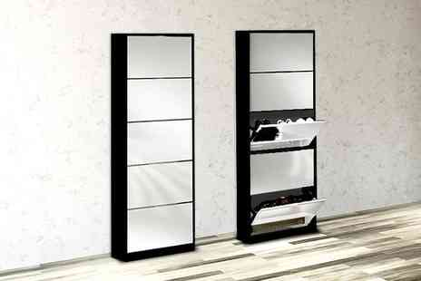 Mattress Shed - Mirrored shoe cabinet - Save 55%