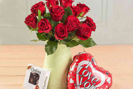 Blossoming Gifts  - Choice of Valentines Red Rose Bouquet - Save 43%
