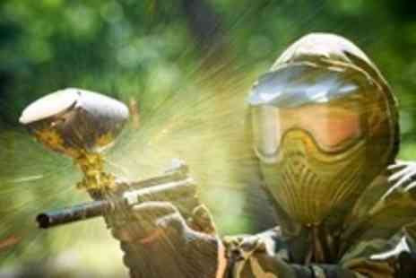 Universal Paintball - Paintball Experience For Two With Lunch and 100 Paintballs Each - Save 83%