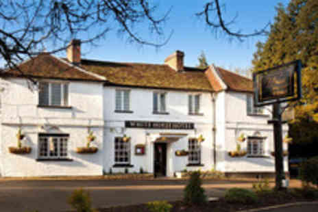 White Horse Hotel - Hertfordshire Escape for Two with Three Course Dinner and Bottle of Prosecco - Save 52%