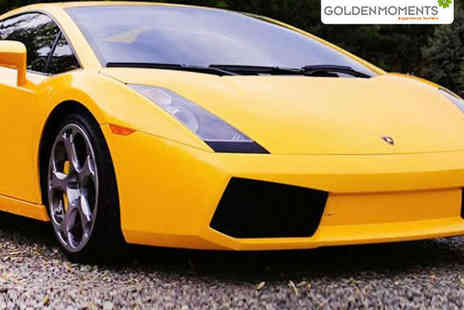 Golden Moments - 20 Minute Lamborghini Driving Experience - Save 46%