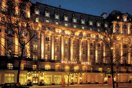 The Waldorf Hilton - Three course meal for Two including a glass of Champagne  - Save 43%