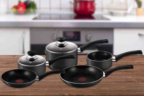 Bonnypack Scotland - Five Piece Tefal Bistro non stick cookware set Plus Delivery Included - Save 43%
