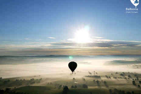 Balloons Over Britain - Hot Air Balloon Ride with Champagne, Flight Certificate, and Photograph for One  - Save 0%