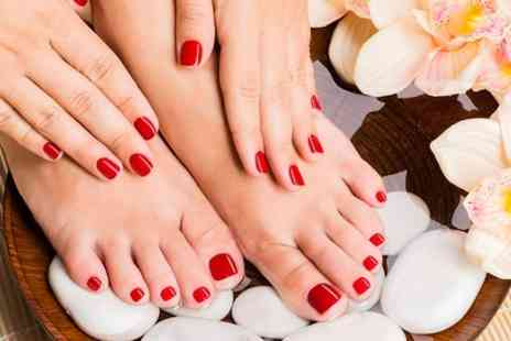USA Star Nails  - Shellac Manicure, Pedicure or Both - Save 0%