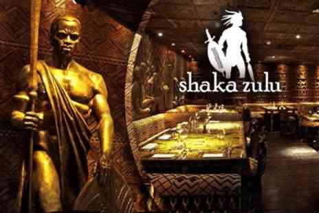 Shaka Zulu - Three course meal with a champagne cocktail for two  - Save 0%