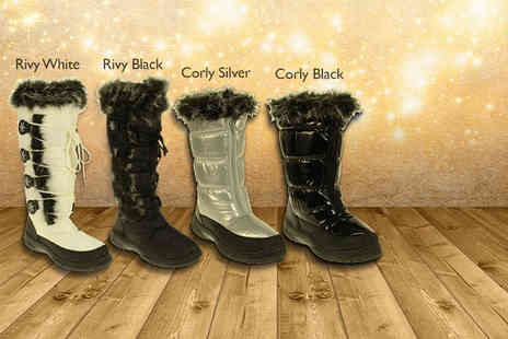 Linzi - Choice of fashion snow boots in 8 styles  - Save 46%