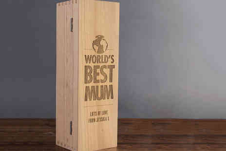 Getting Personal - Mothers Day Personalised Wooden Wine Gift Box - Save 47%