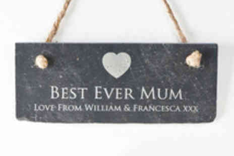 Getting Personal - Personalised Hanging Slate Sign in a Choice of Designs - Save 46%