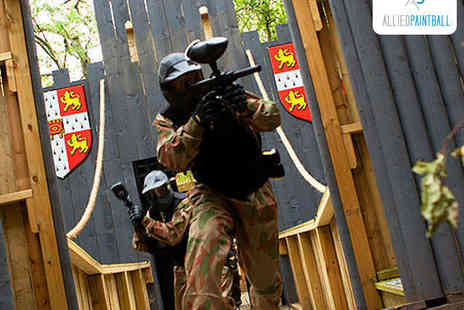 Allied Paintball - Paintballing Day for Ten with Lunch and 100 Paintballs Each - Save 95%