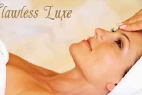 Flawless Luxe - Prescriptive Facial With Hot Stone Back Massage Plus Manicure or Pedicure - Save 70%