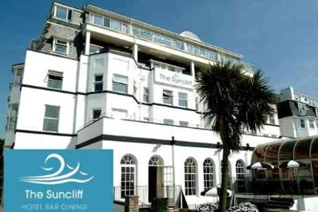 The Suncliff Hotel - One Night Getaway for Two with Three Course Dinner, Full English Breakfast and Leisure Facilites Access - Save 64%