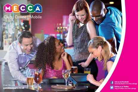 Mecca Bingo - Bingo session for Two including a game of bingo, a main meal and a beer, glass of wine or soft drink  - Save 0%