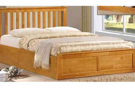 Mattress Shed - Choice of Oak Ottoman Beds - Save 60%