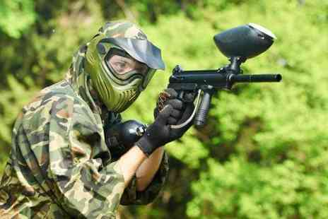 Skirmish Paintball - Paintballing day for up to five including 100 balls each - Save 90%