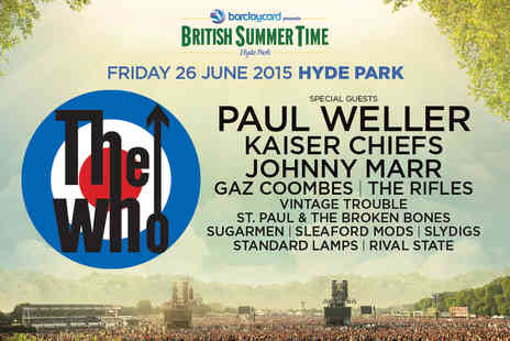 AEG Live - Tickets to The Who at Barclaycard Presents British Summer Time Hyde Park - Save 0%