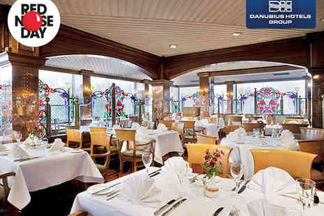 Danubius Hotel - Three Course Dinner for Two with Glass of Wine or Beer Each - Save 50%