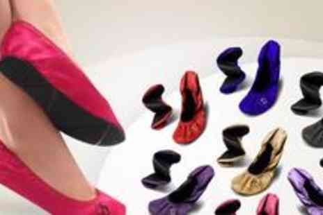 Butterfly Twists - Two pairs of Butterfly Twists Sylvia folding Ballerina shoes - Save 50%