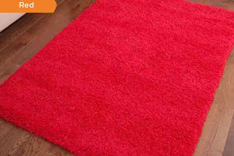 Youressential store - Shaggy Rug in Choice of Colour 60cm x 110cm - Save 67%