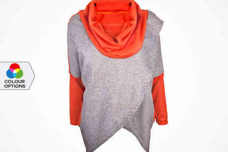 Little Secret Boutique - Womens Slouchy Jumper in Black, Brown, or Orange - Save 65%