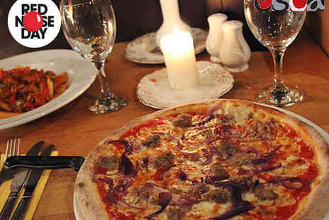 Esca - Pizza, Pasta, or Risotto Dish with Glass of Wine or Bottle of Beer Each for Two - Save 53%