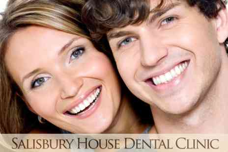 Salisbury House Clinic - Laser Teeth Whitening With Consultation, Scale and Polish for £139  - Save 81%