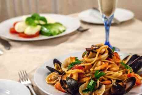 Romanos - Two Course Meal With Wine and Coffee For Two  - Save 0%