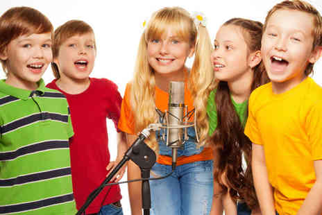 Pop Music Experience - Hour Long Children's Studio Recording Party for up to 20 People, with CD of Recorded Track - Save 90%