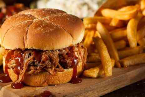 Charterhouse Bar - Pulled Pork Burger With Sides and Beer For One - Save 47%