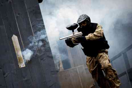 Horizon Paintball - Full day of paintball for up to 10 with entry, equipment & 100 paintballs with a light lunch - Save 95%