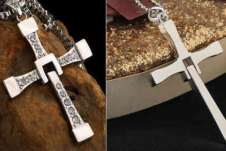 Crazee Trend - Stainless Steel Cross Necklace - Save 81%