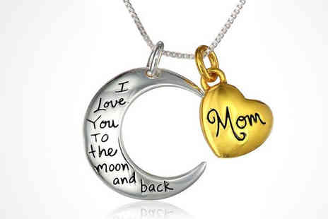 Finishing touch - Moon and Back Mothers Day Necklace - Save 86%